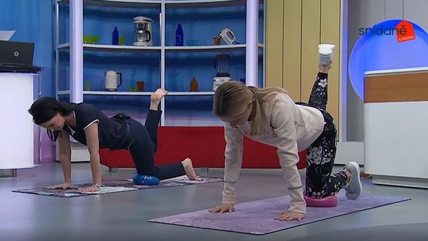 Cvičení se Snídaní: Jak prostřednictvím míčku posílit střed těla?